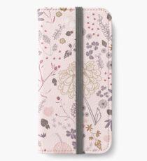 Vinilo o funda para iPhone Campo de flores en rosa y morado