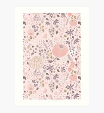 Field of Flowers in Pink and Purple Art Print