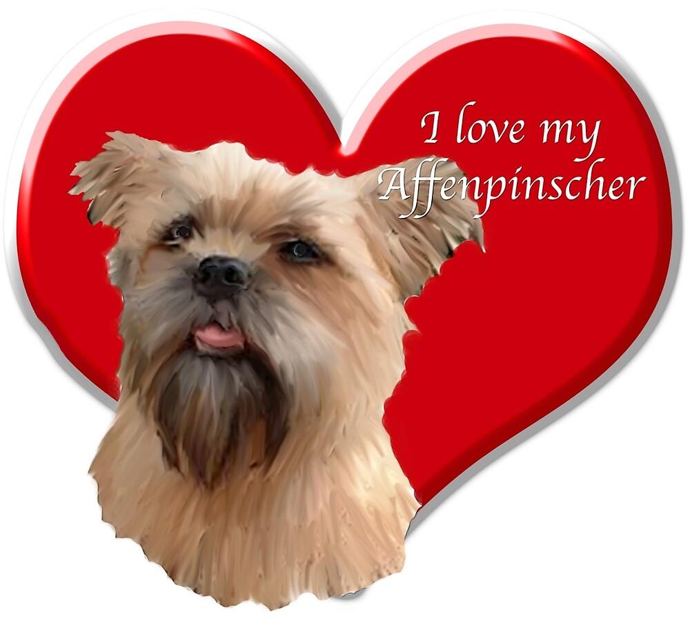 I love my affenpinscher by IowaArtist