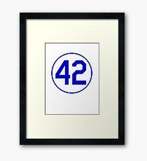 42 JACKIE RETIRED NUMBER SHIRT BROOKLYN LOS ANGELES Framed Print