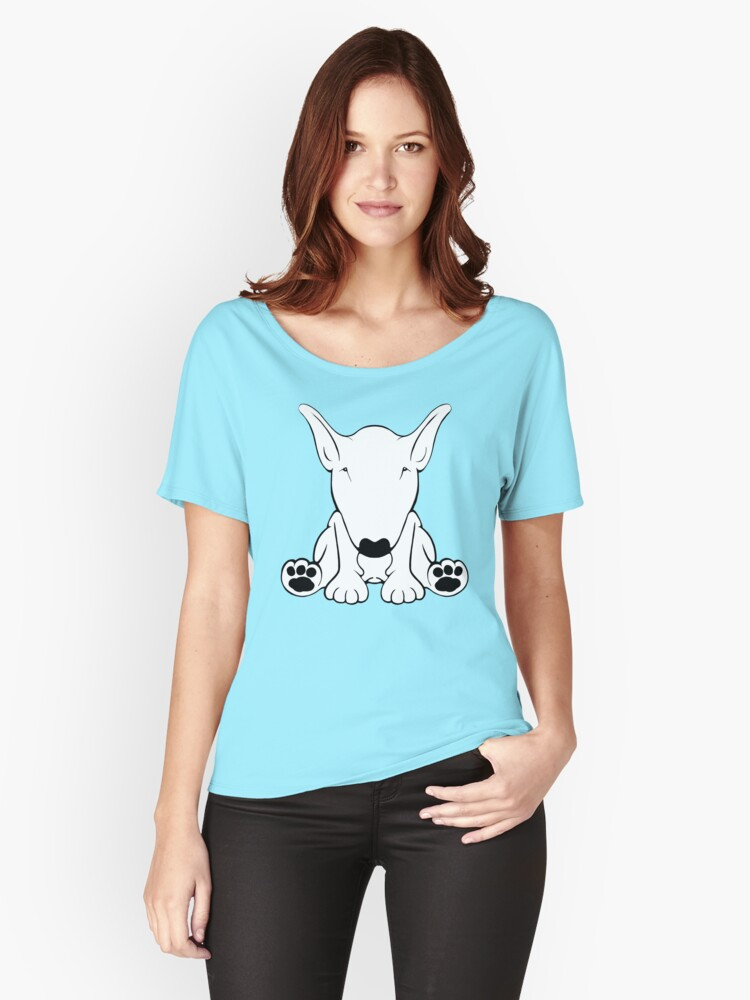 English Bull Terrier Forward Sit 2 Women's Relaxed Fit T-Shirt Front