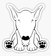 English Bull Terrier Forward Sit 2 Sticker
