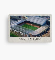 Vintage Football Grounds - Old Trafford (Manchester United FC) Canvas Print