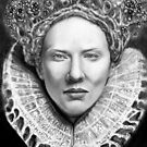 Cate Blanchett as Queen Elizabeth The 1st. by Carliss Mora