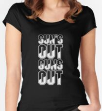 Sun's Out Guns Out Women's Fitted Scoop T-Shirt