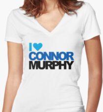 I Heart Connor Murphy - Dear Evan Hansen Women's Fitted V-Neck T-Shirt