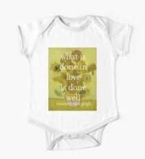 what is done in love One Piece - Short Sleeve
