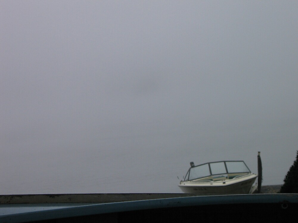 Boat in Fog by Colby  Gregory