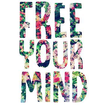 Libere su mente flores brillantes de annmariestowe