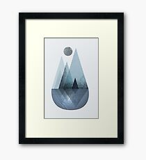 Nordic Mountain Reflection Framed Print