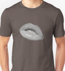 lips girl hot teen beautiful model pretty teeth mouth gloss attractive nice T-Shirt