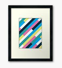 1980s Slats Framed Print