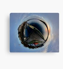 Foyle Marina at Dawn, Stereographic Canvas Print
