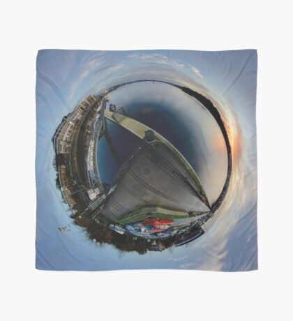 Foyle Marina at Dawn, Stereographic Scarf