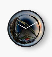 Foyle Marina at Dawn, Stereographic Clock