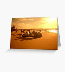 Sundown Kitesurf Greeting Card