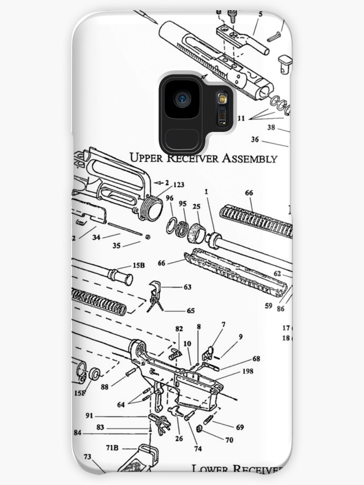 Ar 15 Patent Design T Shirt Ar15 Clothing Rifle Tee Cases Skins