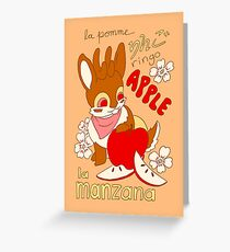 Jackalope and Apple Greeting Card