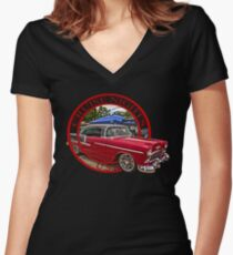 Cruise Nights U S A #10 Women's Fitted V-Neck T-Shirt