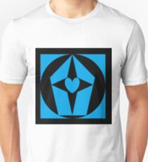 Black and blue Geometric Designs Unisex T-Shirt