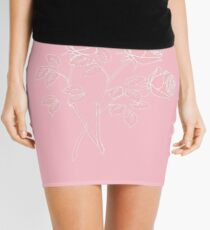 Pink and white // roses Mini Skirt