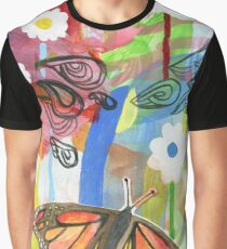 Butterfly landscape Graphic T-Shirt