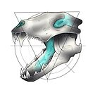 Neotraditional Wolf Skull by N E T H A R T I C