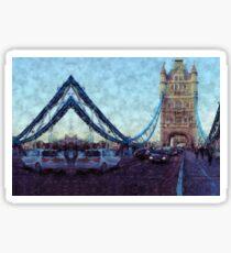 Bermondsey Divergence - Tower Bridge, London Sticker
