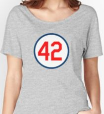 SHEA STADIUM 42 RETIRED NUMBER STYLE  Women's Relaxed Fit T-Shirt