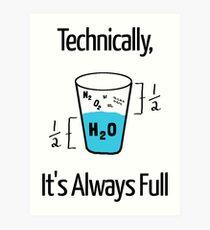 Funny Science Humor Art Print