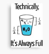 Lienzo metálico Humor divertido de la ciencia