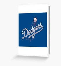 Dodgers Greeting Card