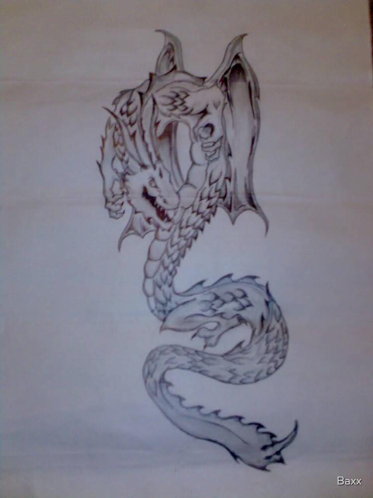 serpent tattoo design by Baxx