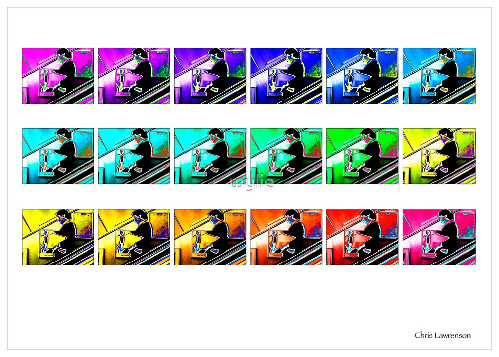 'Escalator Man' colour sequence  by wylie