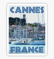 Cannes, France - Waterfront and Old Town Sticker