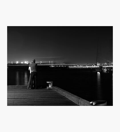 Watching Ships in the Night Photographic Print