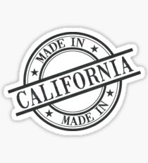Made In California Stamp Style Logo Symbol Black Sticker