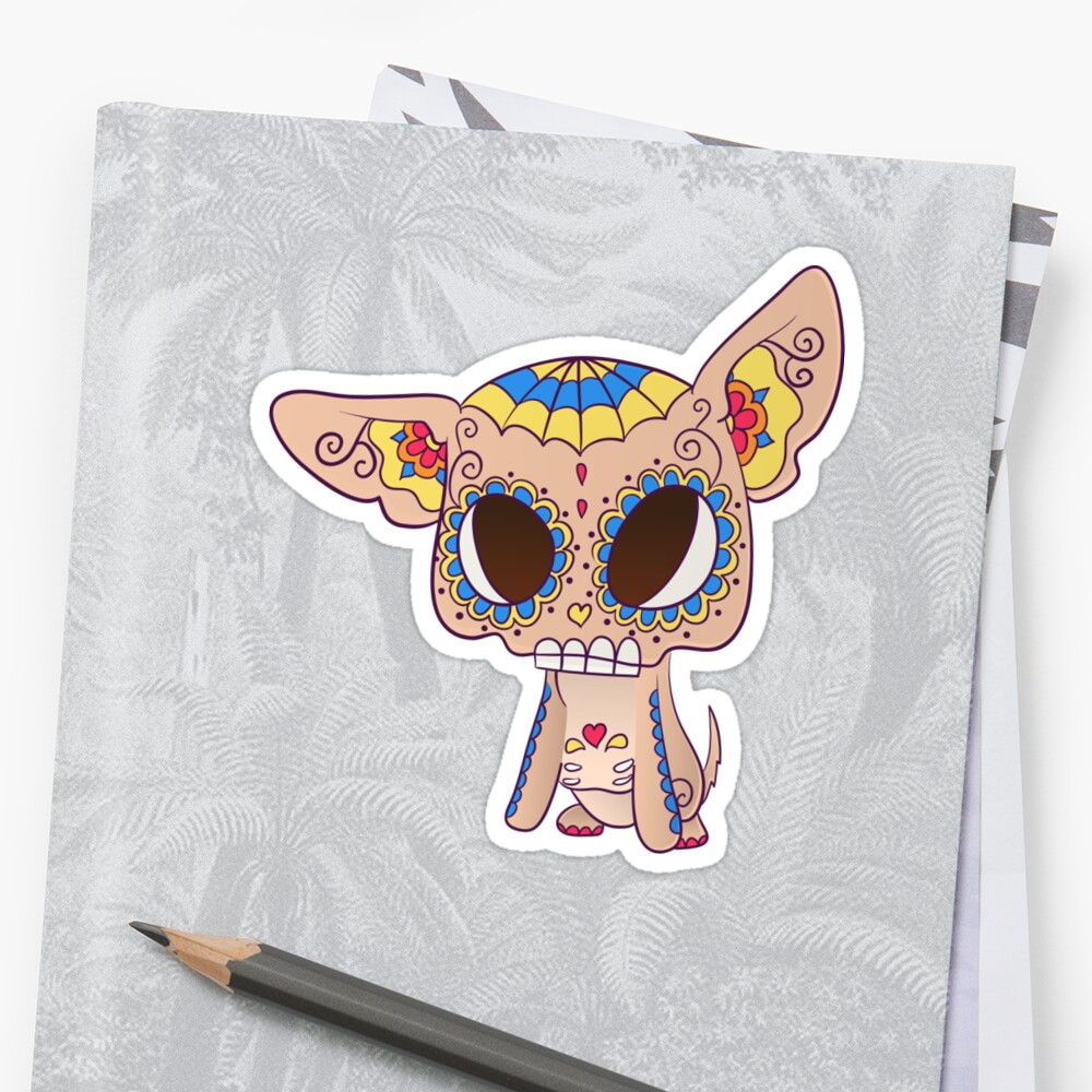Chihuahua PopMuerto - Day of the Dead by abowersock