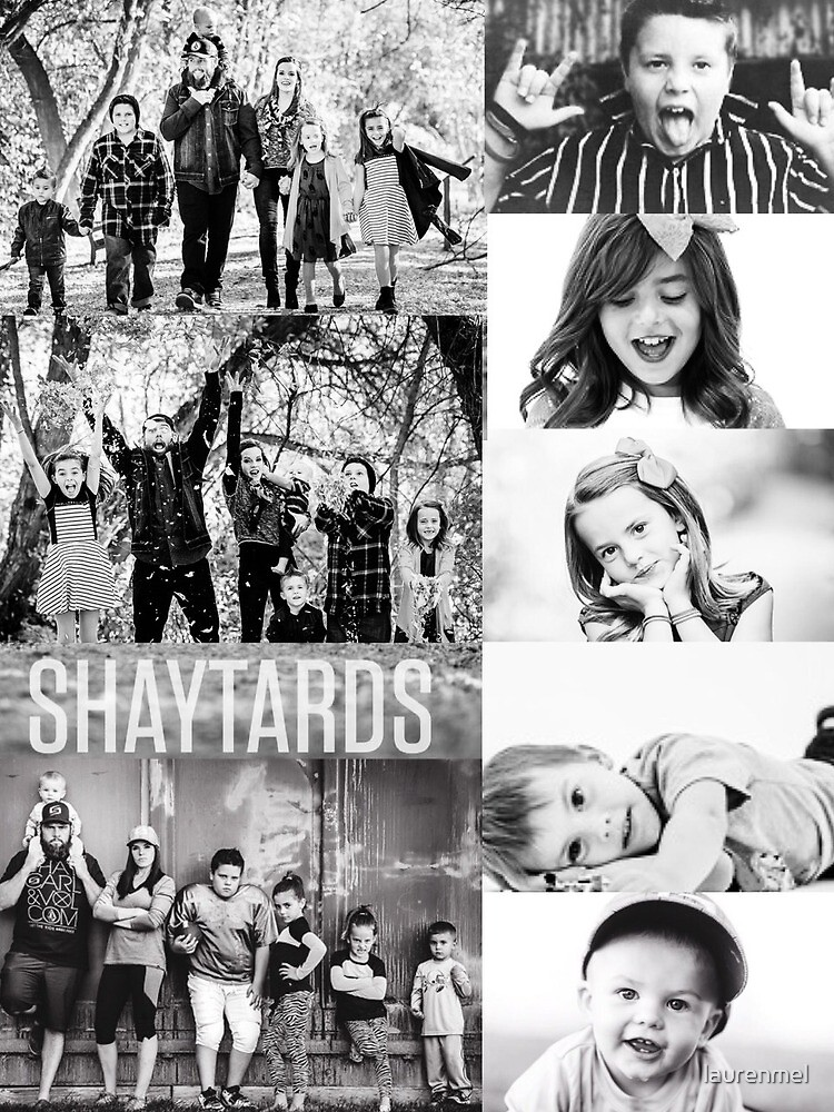 Shaytards Black and White Collage by laurenmel