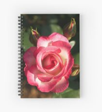 Two Tone Rose Spiral Notebook