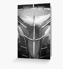 1940 Ford Deluxe Coupe Grille -0437bw Greeting Card
