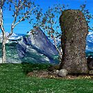 Fairy Statue Landscape 01 by OFWDesigns