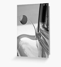 1940 Ford Deluxe Coupe Rear View Mirror -0388bw Greeting Card
