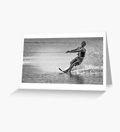 Waterskier Greeting Card