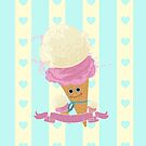 Happy Ice Cream Cone by Adam Santana