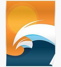 Morning Peaks   Wave Art Poster