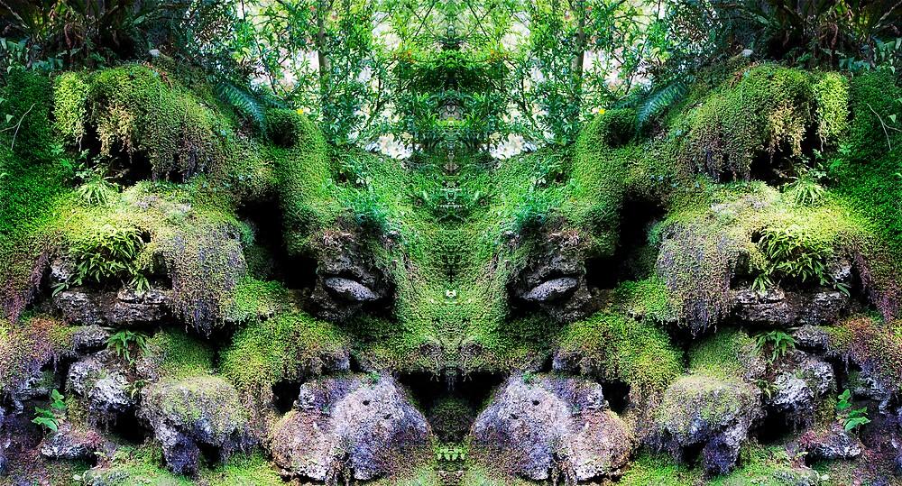 Sitting Green Man by Ramona Farrelly