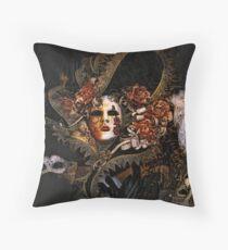 Venice Carnival masquerade, Baroque masks Throw Pillow