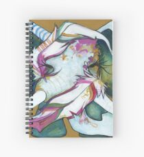 ELEPHANT FEATHERS GOLD and GREEN Spiral Notebook