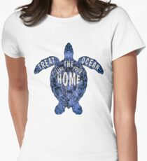 OCEAN OMEGA (VARIANT 3) Womens Fitted T-Shirt